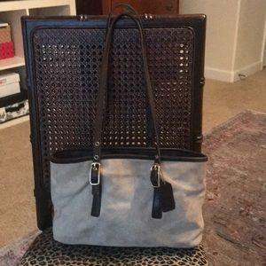 Vintage Coach suede purse